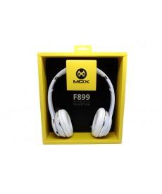 AURICULAR MOX MO-F899 BLUETOOTH/FM/MIC/SD/BLANCO
