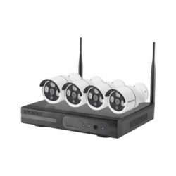 DVR SATELLITE KIT - A-IP101 - 4 CANALES - 4 CAMARAS - HD - INALAMBRICO