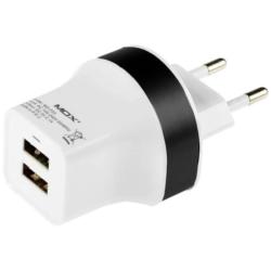 CARGADOR UNIVERSAL MOX MO-F03 - 2 USB - NEGRO - BIVOLT