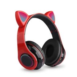 AURICULAR ECOPOWER CAT EARS EP-H133 BT/TF/LED - ROJO