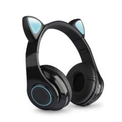 AURICULAR ECOPOWER CAT EARS EP-H133 BT/TF/LED - NEGRO