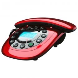 TELÉFONO MEGASTAR FTC12 C/CABLE - ROJO