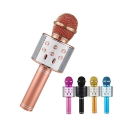MICROFONO SIN CABLE WS-858 BATERIA RECARGABLE/USB/FM/BLUETOOTH