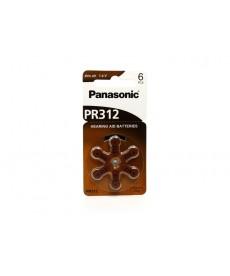 BATERIA 312 PANASONIC (PR312)C/06P (AP SURDEZ)